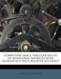 Computing Small Singular Values of Bidiagonal Matrices with Guaranteed High Relative Accuracy, James Demmel and W. Kahan, 1175740853