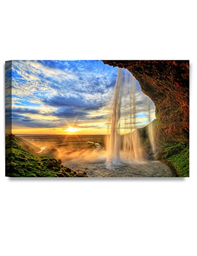 DecorArts waterfall Seljalandfoss Giclee Canvas