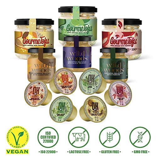 Gourmet Gluten Free Food Healthy Vegan Snacks Dip Mega Pack of 12 with 1 Jar Present Vegan Gifts