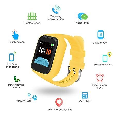 Roebii Reloj Inteligente para niños GPS Tracker, Smartwatch ...
