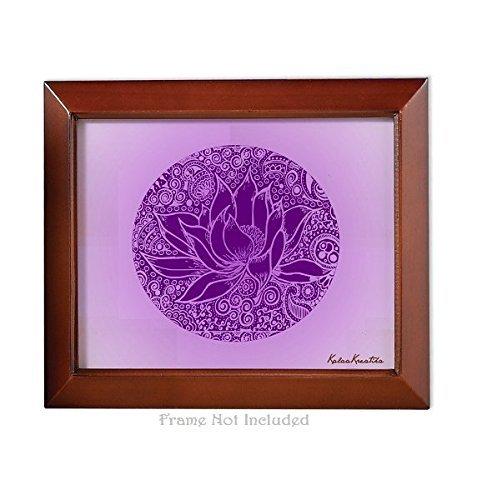 Meditation Series - Crown Chakra Healing Violet Lotus - Unframed 8x10 Art Print - Home Study Meditation Room Yoga Studio Birthday Mother's Day Gift Spa Color Therapy Framing Wall Decor Decorations by KalaaWorks - Handmade By Kalaa Kreatika