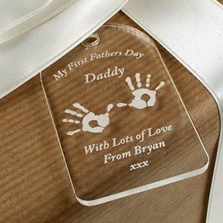 First Fathers Day Gift Tag 1st Fathers Day Gift Idea Daddy Gift