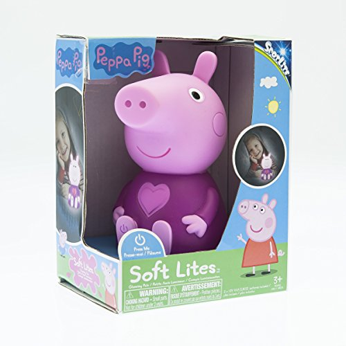 Peppa Pig Soft Lite - Peppa - Soft and Portable Light-Up Toy and Nightlight -