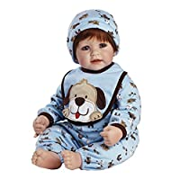 """Adora Toddler WOOF! 20"""" Boy Weighted Doll Gift Set for Children 6+ Huggable Vinyl Cuddly Snuggle Soft BodyToy"""