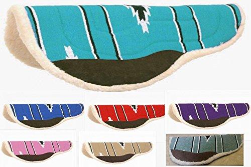 Tough-1 Deep Skirt Navajo Barrel Saddle Pad Round Fleece Back Western Pad 31