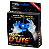D'lites Regular Blue Lightup Magic - Thumbs Set / 2 Original Amazing Ultra Bright Light - Closeup & Stage Magic Tricks - Easy Illusion Anyone Can Do It - See Box for Free Training / Routine Videos