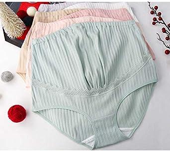 LOVELYBOBO Mujer Bragas Maternidad Algod/ón para Embarazadas Calzoncillo Ajustable de Pre-mam/á Cintura Alta Apoyo el Vientre Pregnant Underwear Paquete de 3