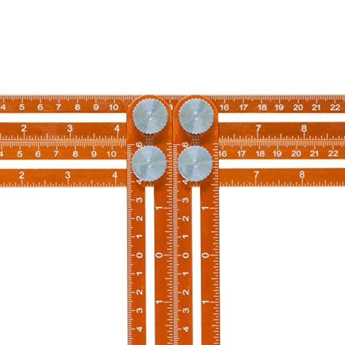 Angle Template Tool, Premium Aluminium Nook Scale Ruler, Metal Multi Functional Measuring. Instruction Leaflet. Low Profile for Accurate Measurements. Pro quality DIY, Joiners, Tilers. Great present by Twenty Percent (Image #7)