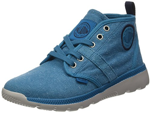 Palladium Plvil Hi F, Zapatillas Altas para Mujer, Rose Azul (Mosaic Blue/moonbeam)