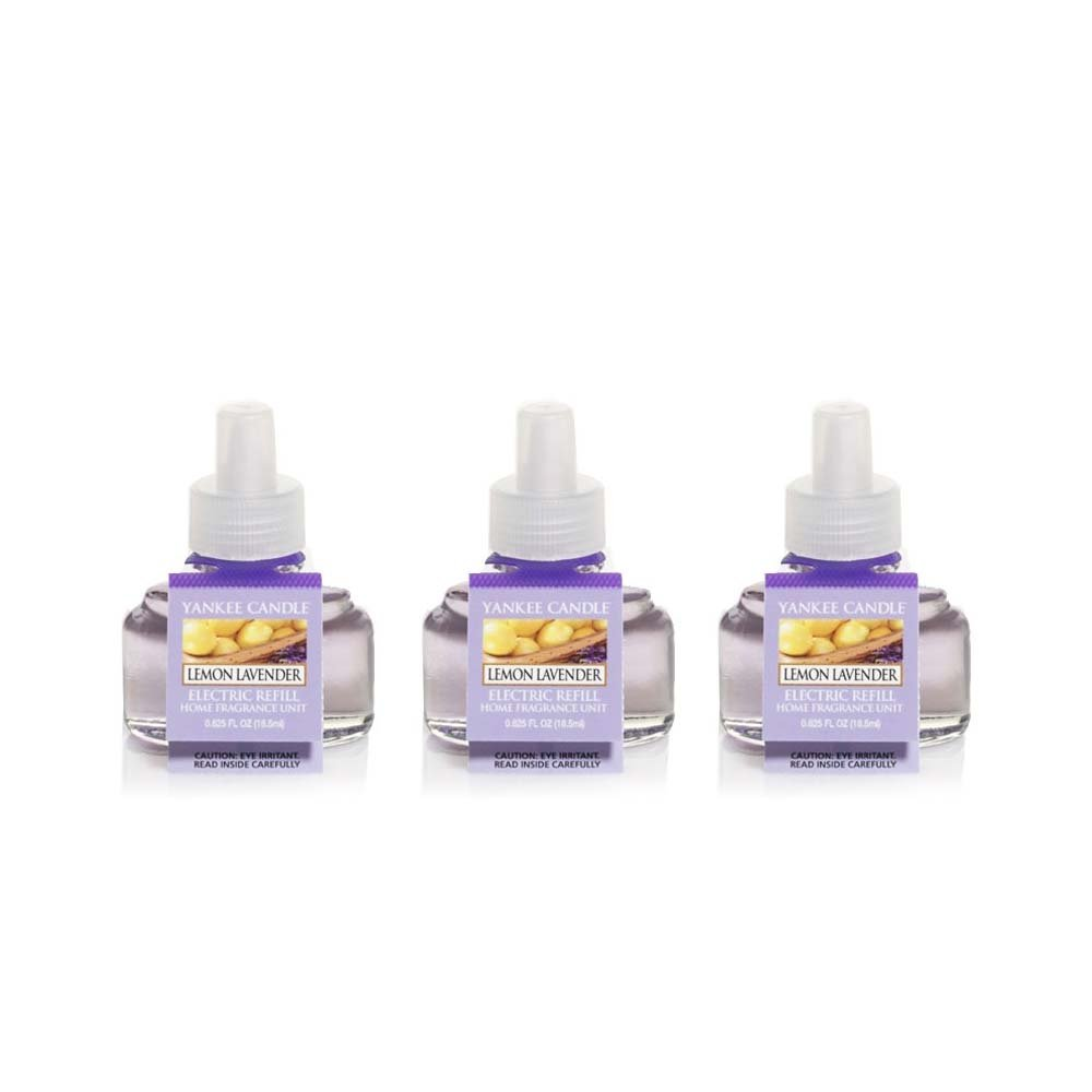 Yankee Candle Scent-Plug Air Freshener Refill (3 Pack) Fresh Scent (Lemon Lavender)