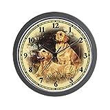 CafePress – Golden Retriever Wall Clock – Unique Decorative 10″ Wall Clock