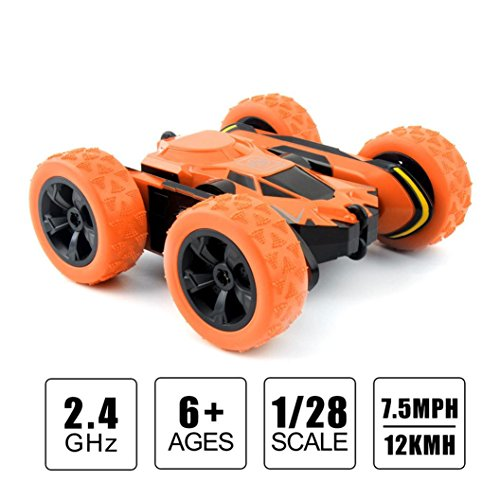 Kit 4wd Electric Buggy (RC Racing Car, Rechargeable 2.4Ghz 1:28 4WD High Speed Remote Control Electric 360 Degree Drift Cars RC Truck Off-Road Buggy, The Best Toy For Kids (Orange))