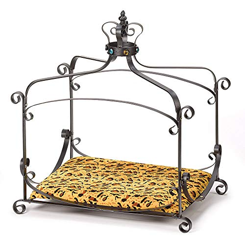 (JedaJeda Dog Cat Pet Bed Royal Velvet Ferret Splendor Canopy Crown)