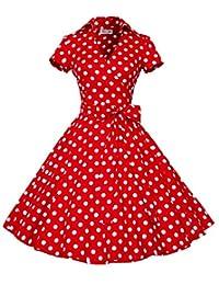 Eyekepper 50s 60s Vintage Short Sleeve Swing Rockabilly Ball Party Dress