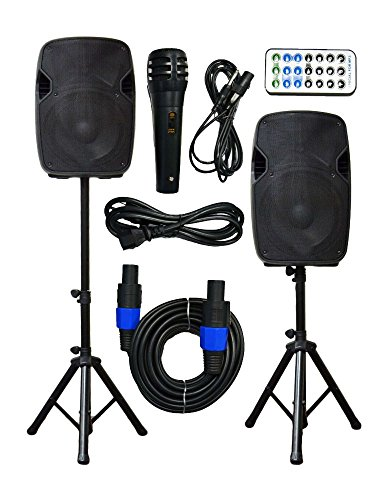 "2x 10"" Pro Series Speaker DJ PA System Bluetooth Playback 1500W from Unknown"