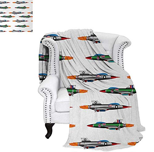Summer Quilt Comforter Collection of Jet-Planes Aviation Attack Modern Technology United Kingdom Model Digital Printing Blanket 70