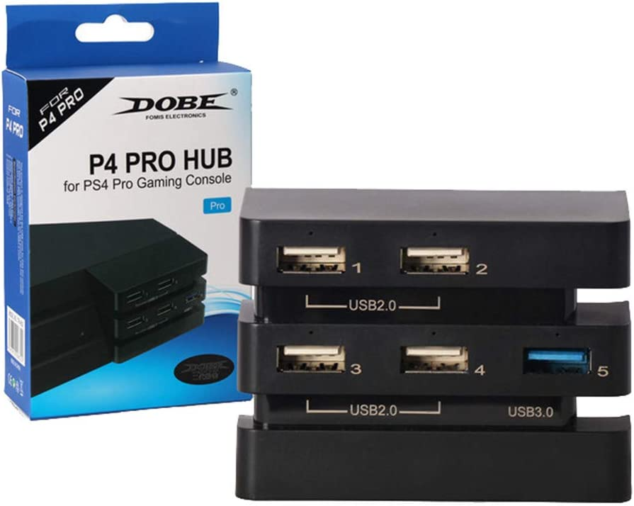 USB 3.0 Expansion Adapter HUB for Sony Playstation 4 PS4 Pro Gaming Console