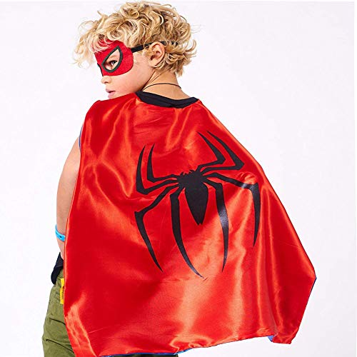 Superhero Costume and Dress Up for Kids - Satin Cape and Mask Birthday holiday -