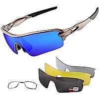 OULIQI Gafas de Ciclismo Polarizadas Gafas de Sol Deportivas con Montura TR90 Gafas de Bicicleta…