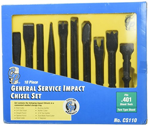 Grey Pneumatic 10 Piece General Service Impact Chisel Set (GRECS110) Category: Punch and Chisel Sets