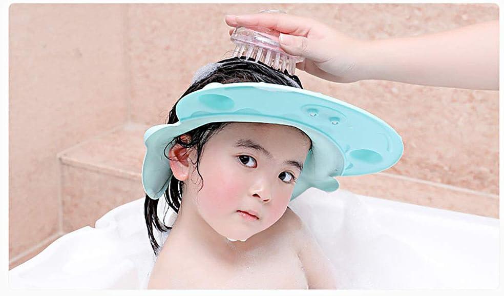 2pcs doccia cap per bambino cappello da doccia visiera proteggi occhi e viso shampoo cuffia da bagno doccia regolabile per bambini
