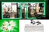 Storefront Window LED Light 40ft Bright Green with UL Listed 12v Power Supply