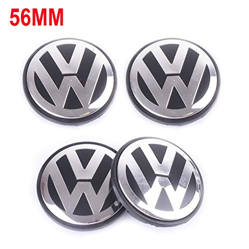 Wheel Center Caps Hubcap-4PCS 56mm 2.22'' Chrome Cap Cover Badge Emblem fit for Volkswagen VW Caddy EOS Golf Jetta Passat CC Phaeton Scirocco Sharan Tiguan Touran Transporter 1J0601171 1J0 601 171