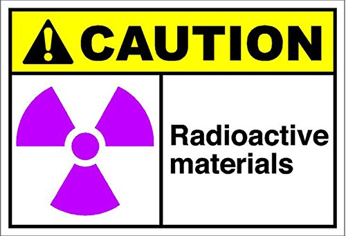 (Radioactive Materials Caution OSHA/ANSI Aluminum Metal Sign 7 in x 10 in Custom Warning & Saftey Sign Pre-drilled Holes for Easy mounting)