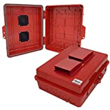 Altelix Red Vented NEMA Enlcosure 12'' x 8'' x 4'' Inside Space Polycarbonate + ABS Weatherproof Safety Red NEMA Enclosure