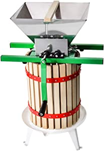 Fruit Wine Press and Crusher,100% Nature Apple&Grape&Berries Crusher Manual Juice Maker for Kitchen