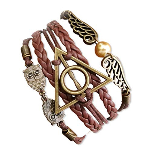 Golden Wings For Women - VONDER Handcrafted Harry Potter Bracelet,Bronze Owls