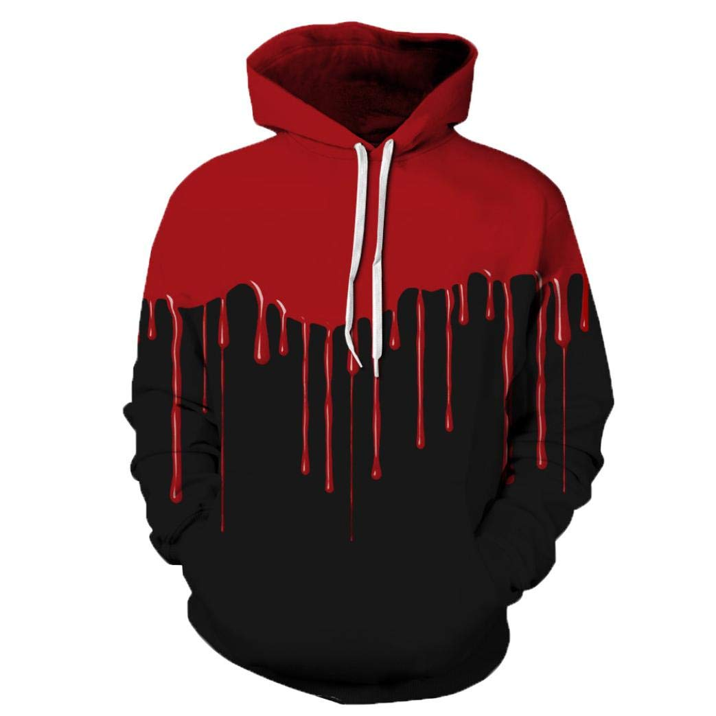 Men's Jackets & Coats, Sweatshirts for Men Hoodie, Loves' Casual Autumn Winter 3D Printing Long Sleeve Hoodies Sweatshirt Blouse (Black, 2XL/3XL) by SamMoSon (Image #2)