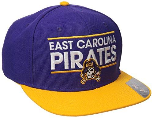 adidas NCAA East Carolina Pirates Adult Men Dassler Flat Brim Snapback, One Size, Purple