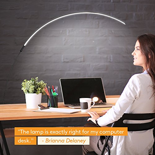 Brightech Sparq Arc LED Floor Lamp - Curved, Contemporary ...