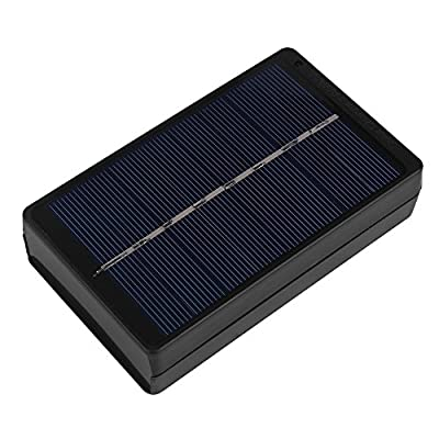 Dioche Solar Battery Charger, 1W 4V Portable Black Solar Panel Charger Box for AA/AAA Battery Camping Hiking Travelling Charger Case