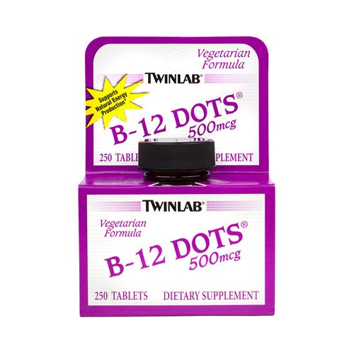 Twinlab B-12 Sublingual Dots - 500 mcg - 250 Tablets - 3PC - B-12 Dots Sublingual