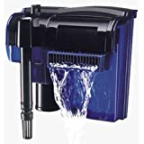 Penn Plax Cascade Hang-on Aquarium Filter With Quad Filtration System Cleans Up to 35 Gallon Tank