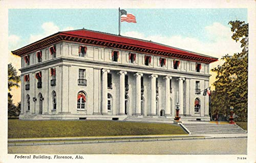 Postcard Federal Building in Florence, ()