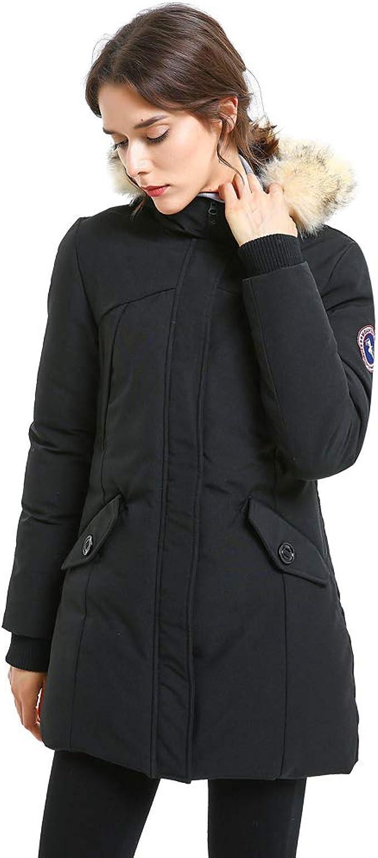 Women/'s Quilted Padded Jacket Coat Ladies Waterproof Parka Winter Warm Overcoat