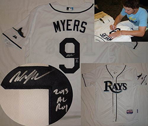 Wil Myers 2013 AL ROY Hand Signed / Autographed Tampa Bay Rays White Jersey (Roy White Jersey)