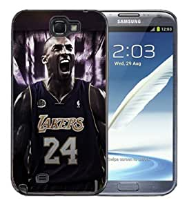 For Case Samsung Galaxy Note 2 N7100 Cover Black Hard Silicone Case - Kobe Bryant 24 Lakers Kobe Yelling