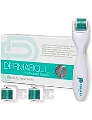 Derma Roller Microneedle 5 Piece Kit [DERMAROLL by Prosper...