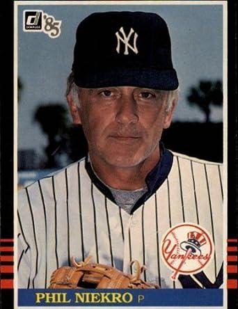 Amazoncom 1985 Donruss Baseball Card 458 Phil Niekro Mint