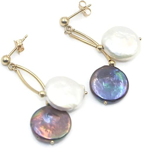 Opal Earrings with 14K Yellow Gold Post and Push Backs