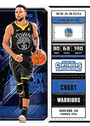 2018-19 Panini Contenders Draft Picks Basketball Season Ticket Variation #49 Stephen Curry Golden State Warriors Official NBA Trading Card