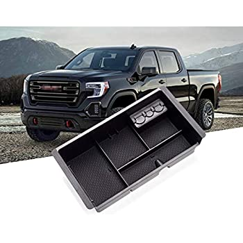 Full Console w//Bucket Seats ONLY Car Center Console Organizer Tray Armrest Box for Chevy Silverado GMC Sierra Yukon 2015-2018 -GM Vehicles Accessories Replaces 22817343