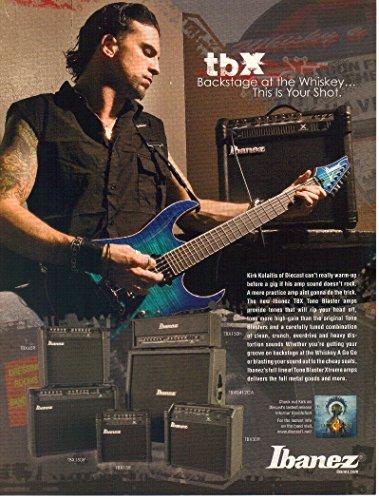 Print ad: 2007 Ibanez TBX Tone Blaster Amps, Kirk Kolaitis-Diecast