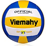 Vmanly Super Soft Volleyball - Waterproof Indoor/Outdoor Official Volleyball for Pool,Game,Gym,Training,Beach Play (Size 5)