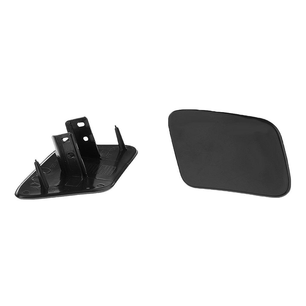 MagiDeal Cache De Lave Phare Noir Capuchon Lave-Glace Paire Bouchon Couverture Pare Choc Pi/èce Auto Pour Audi A4