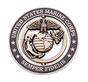 Marine Corps Challenge Coin - EGA Spinner Commemorative Coin - Designed For Marines BY Marines - Officially Licensed Challenge Coin!  by Coins For Anything Inc
